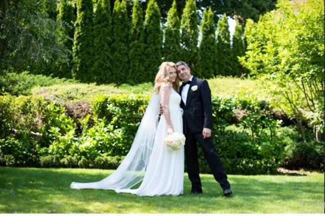 Деси Банова и Росен Плевнелиев в сватбения си ден