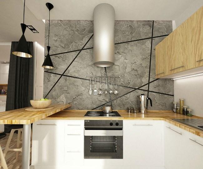 Кухнята е модерна и компактна