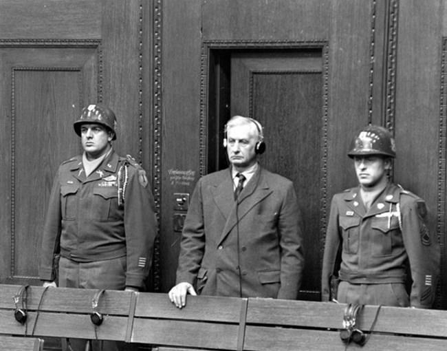 Фридрих Флик е осъден от Нюрнебргския процес заради използването на робски труд за производство на въоръжение за нацистите.