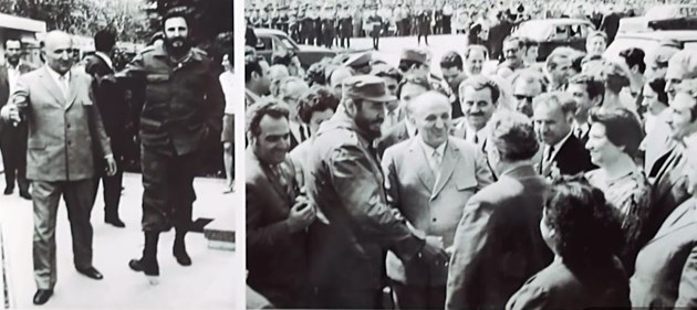Тодор Живков посреща Фидел Кастро в Правец през 1972 г.
