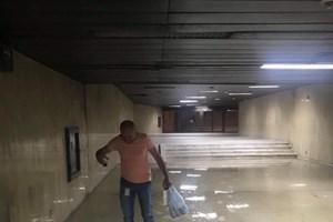 Бурята в София наводни НДК. Снимки: НДК