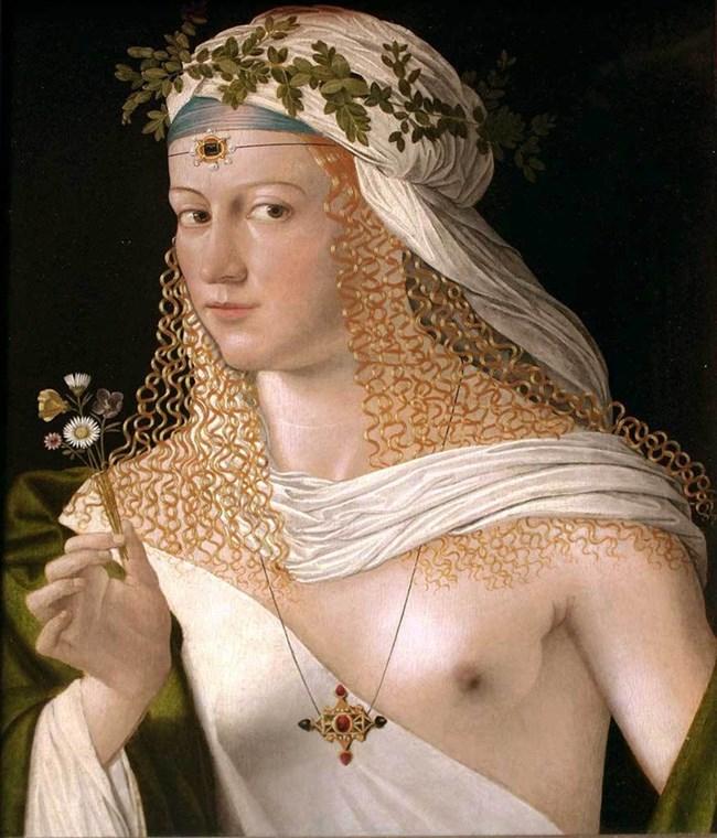 Лукреция Борджия е сгодена за испански благородник още 12-годишна, а после е дадена за булка на Джовани Сфорца, в чийто замък в Градара отива да живее.