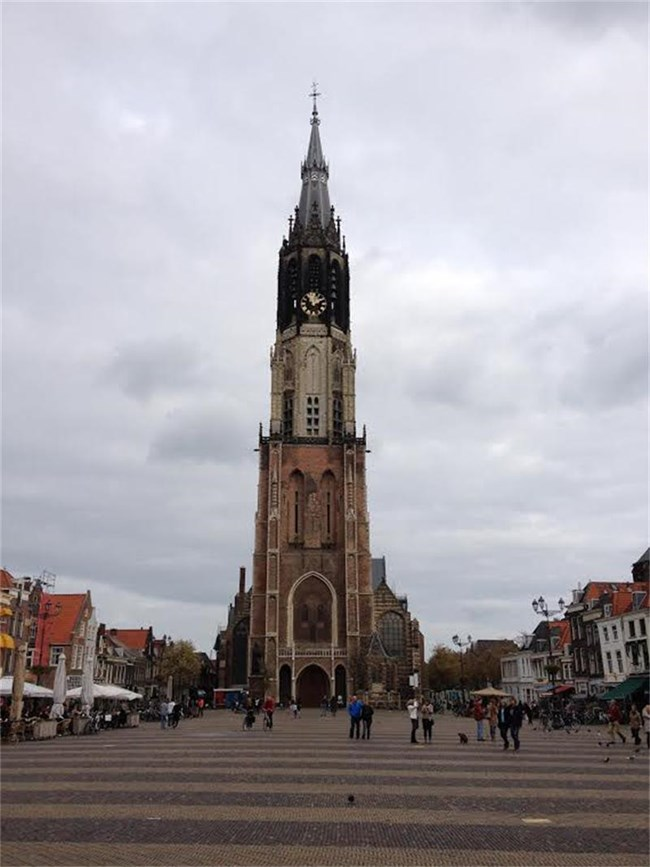 Новата църква в Делфт, родното място на художника Йоханес Вермер.