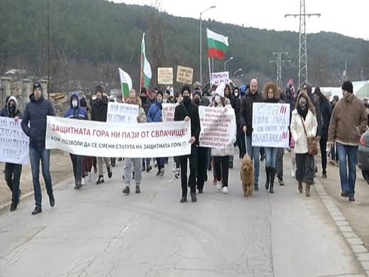 Варненци отново на протест срещу изсичането на защитена гора