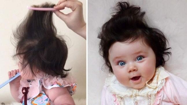 Това бебе има прическа, в която ще се влюбите