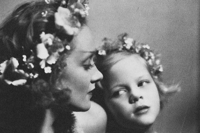 Марлене Дитрих с дъщеря си