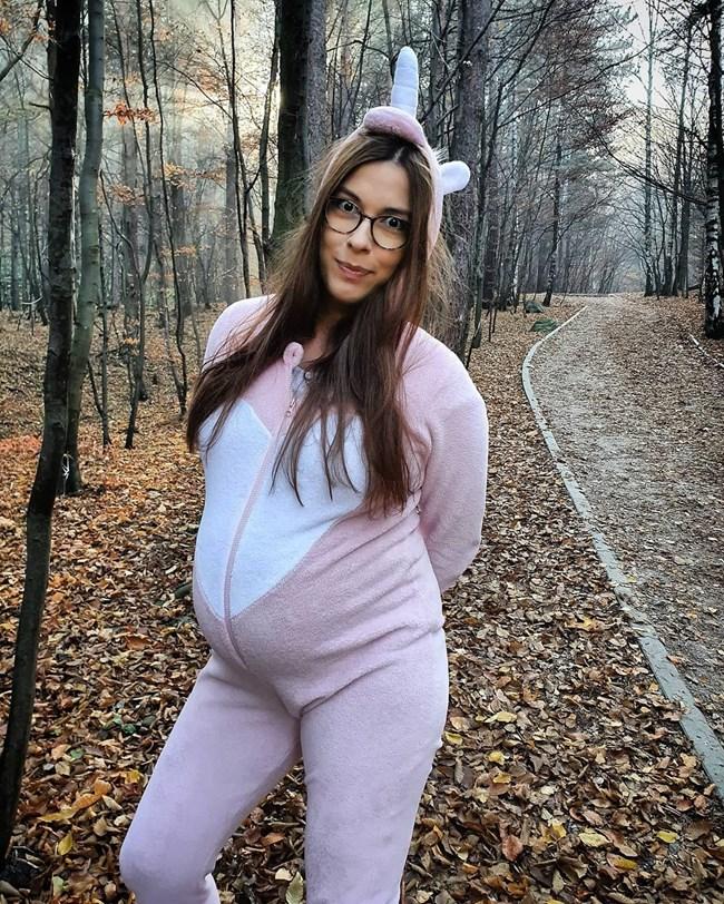 Радина Думанян, докато беше бременна с първото си дете