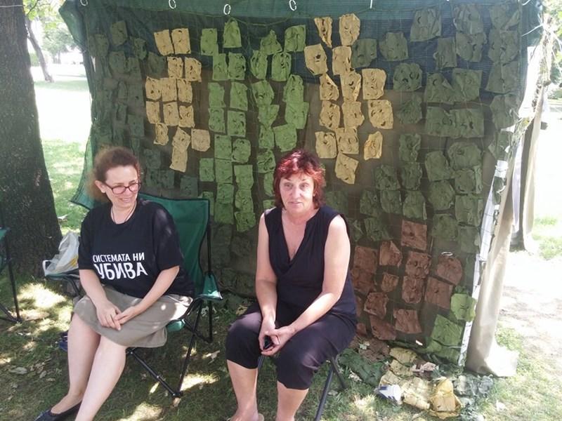 Надежда и Венелина са сред най-активните майки от протестите.