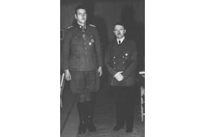 Адолф Хитлер и Ото Скорцени - репродукция