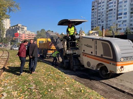 55 000 кв. м тротоари и 250 000 кв. м улици ремонтирани в София тази година