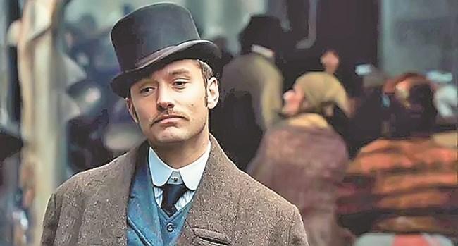 """Джъд Лоу носи автентична викторианска яка във филма """"Шерлок Холмс"""". Той оцелява с нея, но това не може да се каже за някои мъже през XIX в."""
