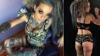 Най-татуираната българка има над 100 рисунки по тялото