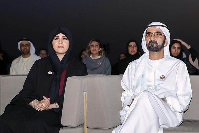 С баща си Мохамед ал Мактум