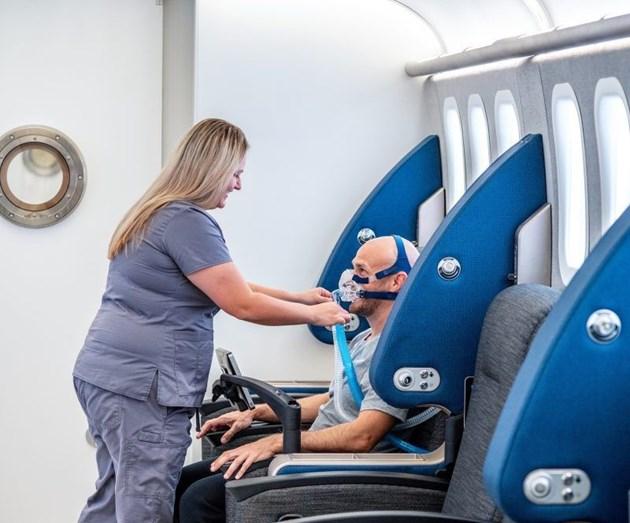 Пациент на кислородна терапия