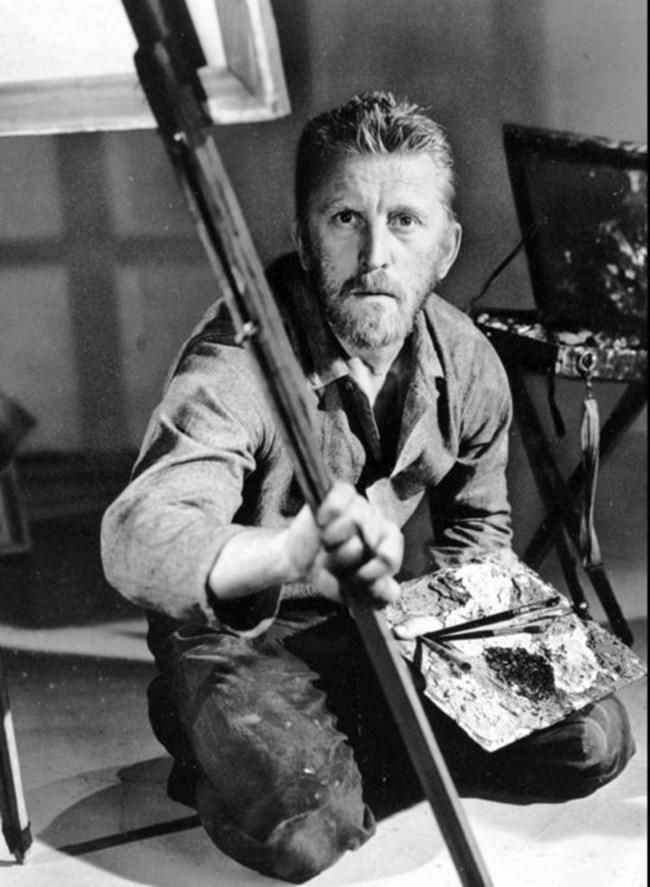 """Кърк Дъглас в ролята на художника Винсент Ван Гог във филма """"Lust For Life"""" през 1956 г.."""