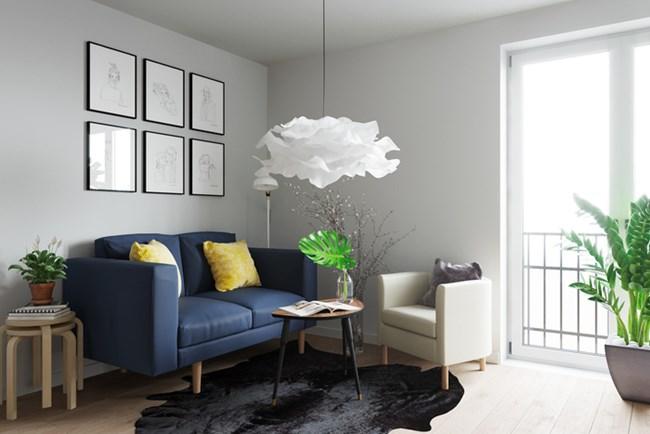 А в нея има място за малък диван, фотьойл, малки масички