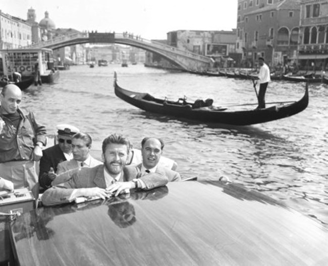 Кърк Дъглас във Венеция на 30 август 1953 г.