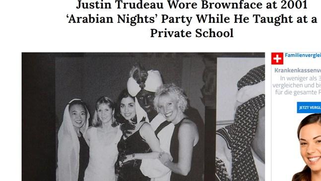 Канадският премиер се извини, че преди 18 г. е боядисал лицето си в кафяво и e бил Аладин