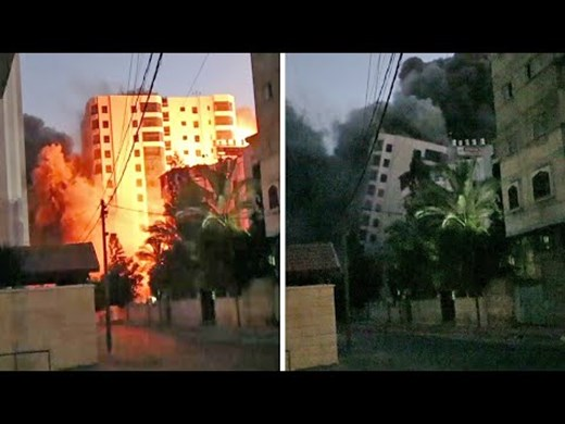Зрелищни кадри от опустошаването на Тел Авив (Видео)