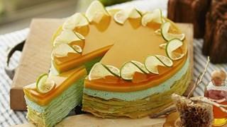 Торта с круши и медна глазура