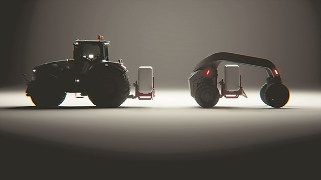 Серията AutoAgri IC в сравнение със среден трактор, носещи малка навесна пръскачка