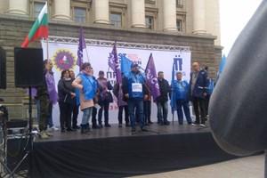 Подкрепа за миньорите имало от цялата минна индустрия, заявиха лидерите на синдикатите.