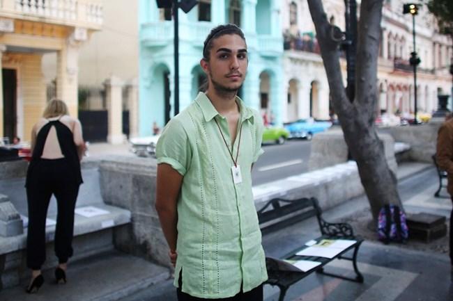 СНИМКИ: РОЙТЕРС / В събитието взе участие и 19-годишният внук на Фидел Кастро – Тони, който спечели овациите с външния си вид.