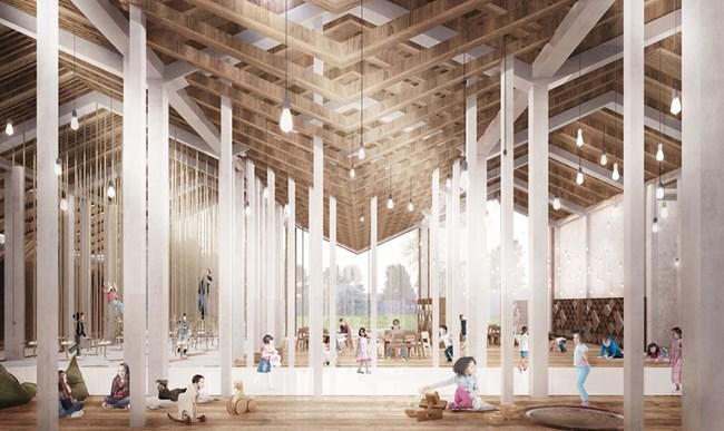 Проектът на Симона за детски център в старата керамична фабрика на езерото Маджоре