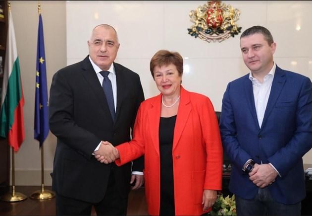 Борисов отчете постиженията ни във фискалната политика пред Кристалина Георгиева