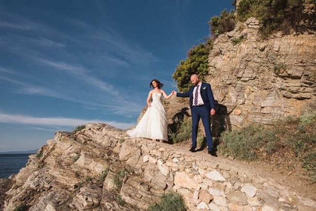 Теодора и Валентин се ожениха на гръцки остров. СНИМКА: ЛИЧЕН АРХИВ