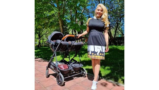 Ева Веселинова изведе близнаците