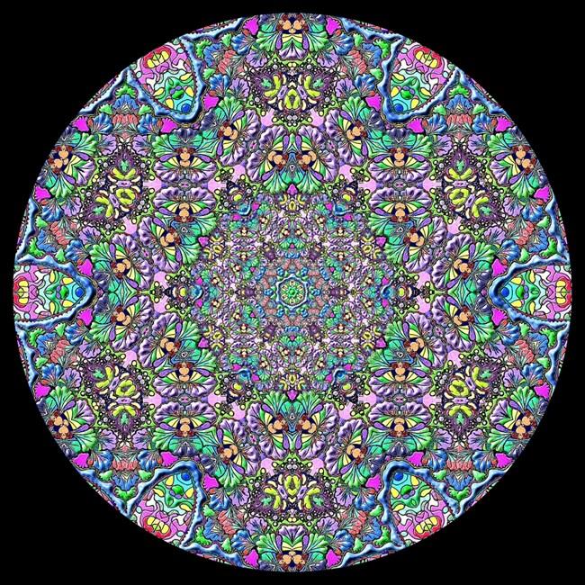 Синя мандала за вглъбяване и медитация