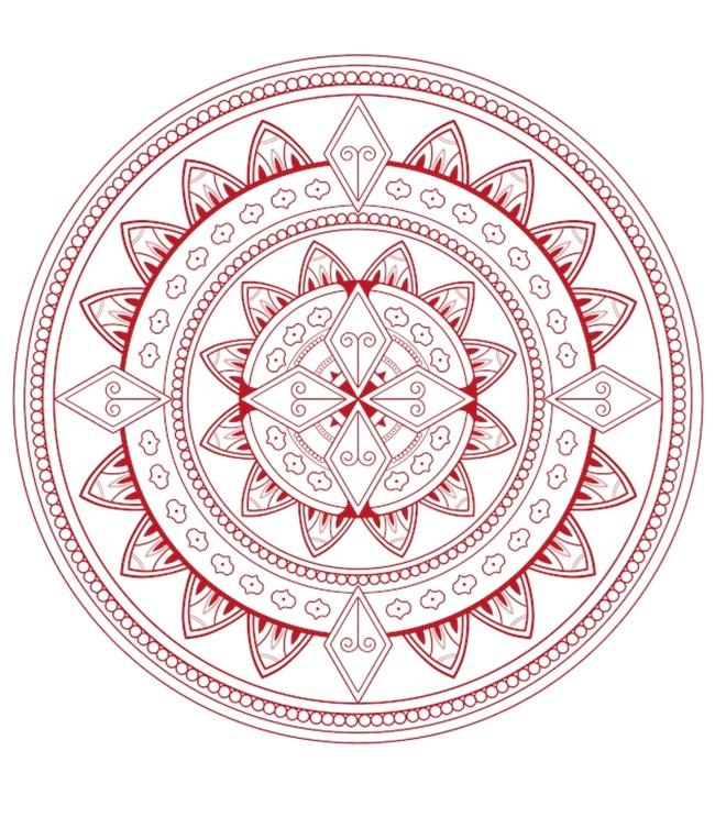 Розова артистична мандала за радост и жизненост