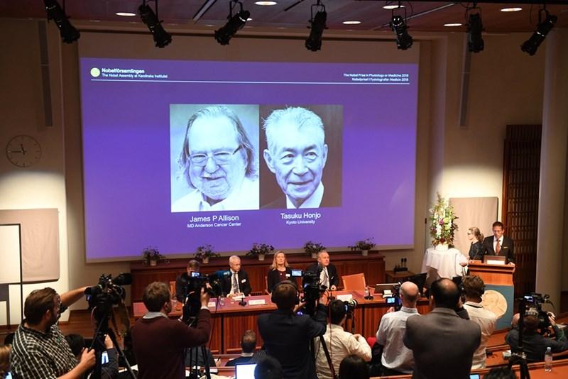Обявяването на Нобеловите награди за медицина 2018.