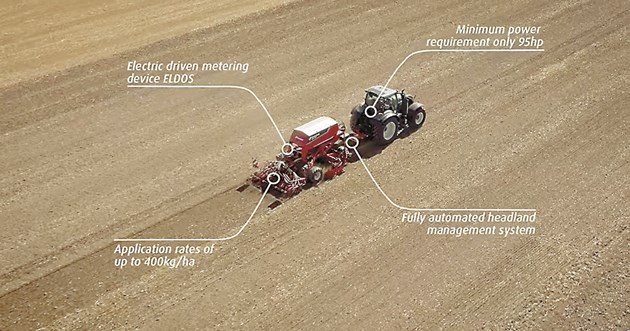 Kverneland u-drill използва дозиращ апарат ELDOS