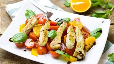 Салата с пиле и портокал