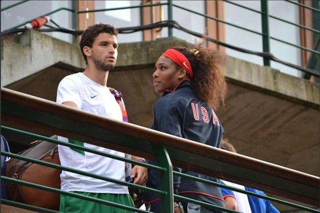 Димитров и Серена Уилямс на олимпиадата в Лондон