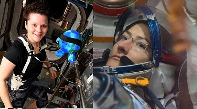 Ан Маклейн и Кристин Кох Снимки: Twitter/НАСА
