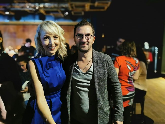 Мила и режисьорът Станислав Тодоров - Роги