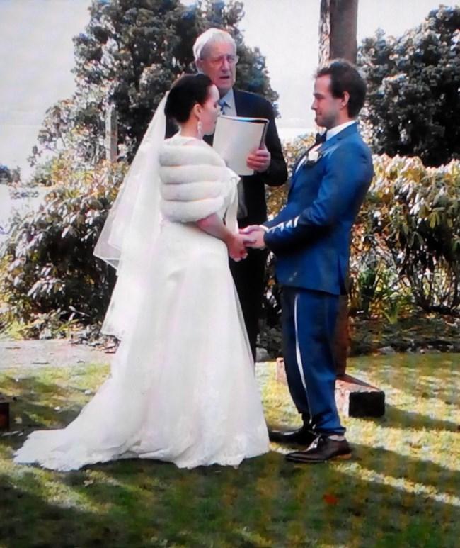 Елица и Адам на приказната си сватба