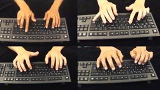 Бързината на писане на клавиатура не зависи от броя на пръстите