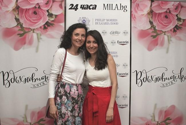 Популярният блогър Даниела Динева (вляво) и Цвети Дичева, дизайнер на Cvetolleta и на плакетите за церемонията