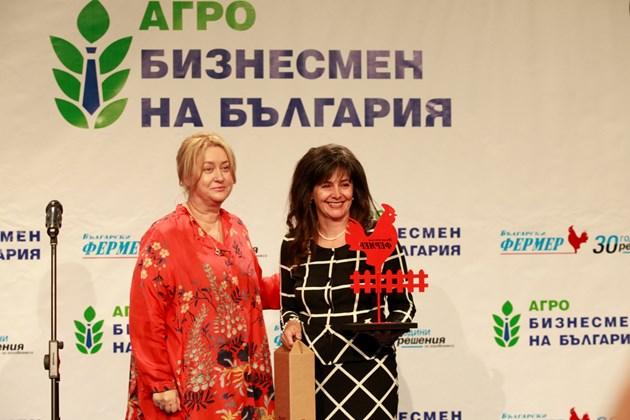 Благовеста Василиева, която получи награда за биопроизводител