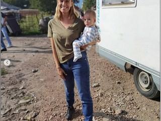 Радина Кърджилова заведе бебето си на снимачната площадка