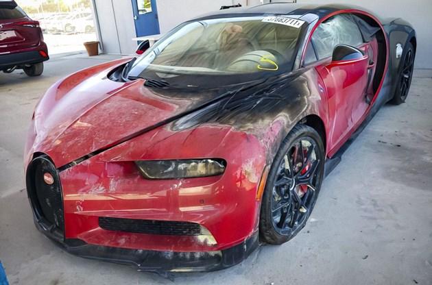 Продават изгоряло Bugatti Chiron за 345 000 долара