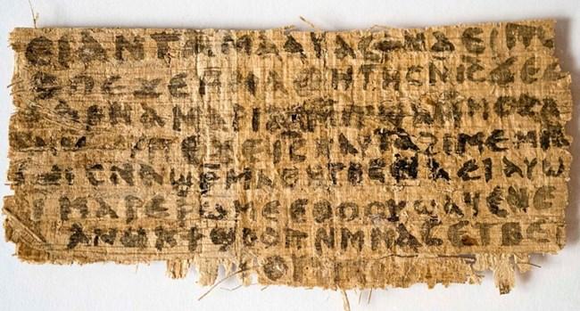 """Късчето папирус, наречено от историчката Карен Л. Кинг """"Евангелието на Христовата съпруга"""" СНИМКИ: АРХИВ"""