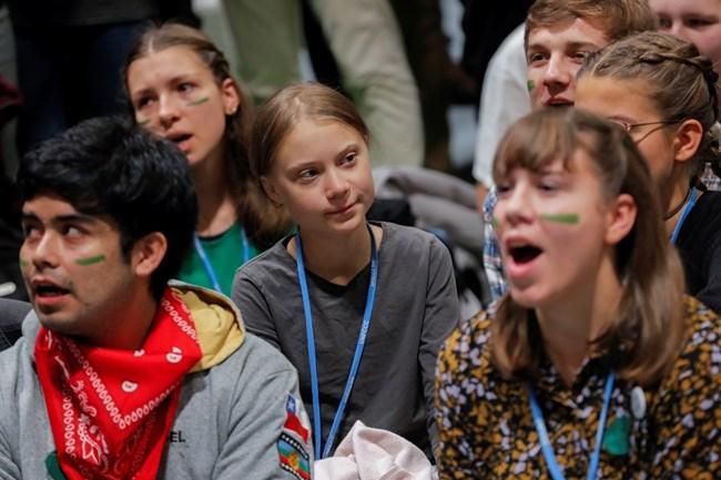 Шведката Грета Тунберг увлече много млади хора да се борят срещу измененията в климата. СНИМКА: РОЙТЕРС