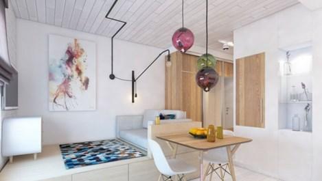 Модерен стил в 24 кв. м (галерия)