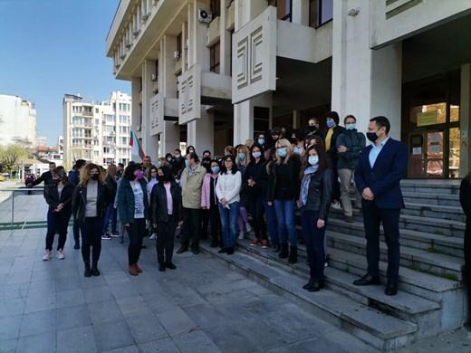 Над 150 прокурори и следователи на протест в Бургас (Снимки)