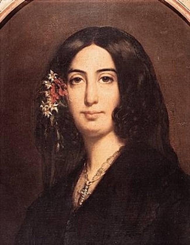 портрет на Санд от Огюст Шарпантие, Мюзе де ла ви романтик, Париж
